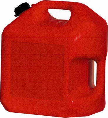 Gas Can, Self-Venting, Red Plastic, 5-Gal.