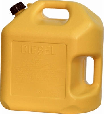 Diesel Gas Can, Self-Venting, Yellow Plastic, 5-Gal.