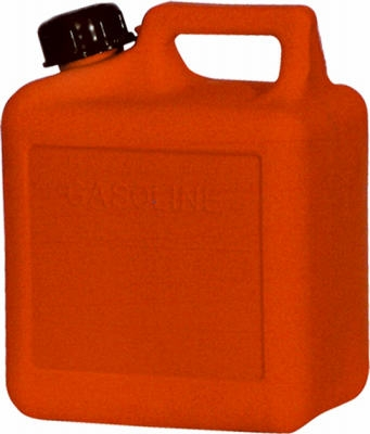 Gas Can, Self-Venting, Red Plastic, 1-Gal. 4-oz.