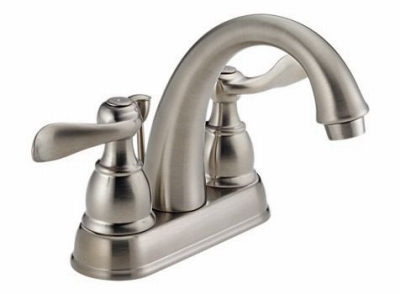 Windemere Lavatory Faucet, 2-Handle, Centerset, Brushed Nickel