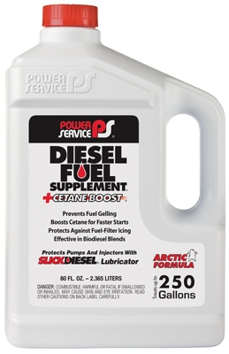 Diesel Fuel Supplement+Cetane Boost Diesel Fuel Anti-Gel, 80-oz.