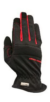 Utility Work Glove, Spandex/Leather, Large
