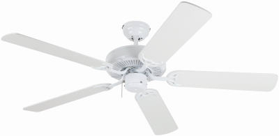 Contractor's Choice Ceiling Fan, White, 5 Blades, 52-In.