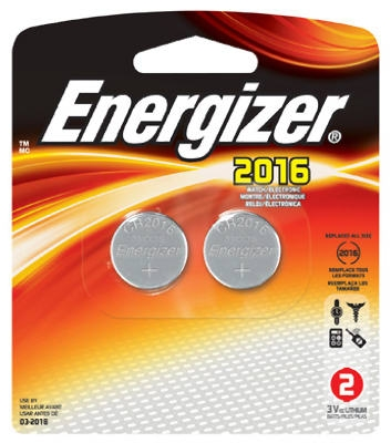 2-Pack 3V 2016 Lithium Watch/Calculator Batteries