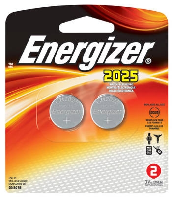 2-Pack 3V 2025 Lithium Watch/Calculator Batteries