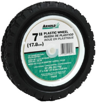7-Inch Plastic Universal Offset Replacement Lawn Mower Wheel
