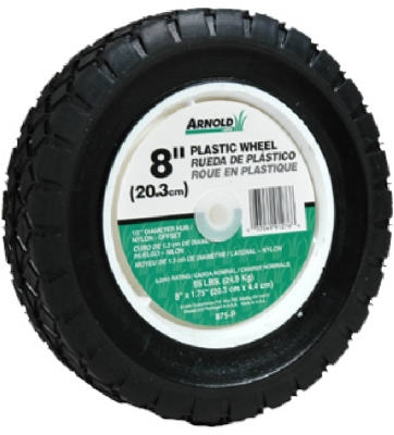 8-Inch Plastic Universal Offset Replacement Lawn Mower Wheel
