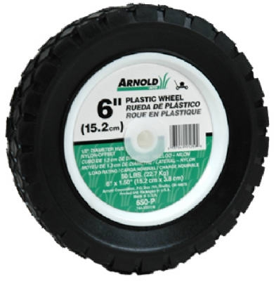 6-Inch Plastic Universal Offset Replacement Lawn Mower Wheel