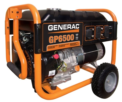 Portable Generator With Wheel Kit, 6500/ 8000-Watt