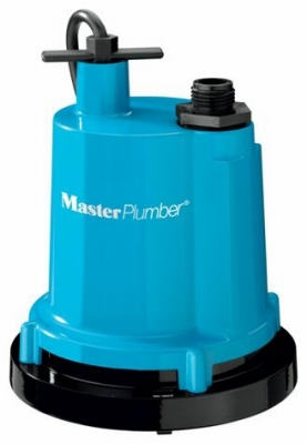 Classic Geyser Heavy-Duty Submersible Utility Pump, 1/4-HP Motor, 1300-GPH