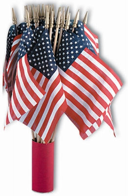 U.S. Handheld Flag, 4 x 6-In., Must Purchase in Quantities of 48