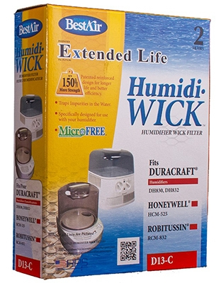 2-Pack Duracraft Humidifier Wick Filters