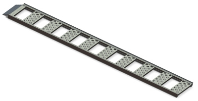 Straight Loading Ramp, 1,250-Lb. Capacity, Aluminum, 13 x 77-In., 2-Pk.