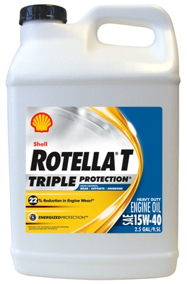 Rotella Motor Oil, Heavy-Duty 15W40, 2.5-Gal.