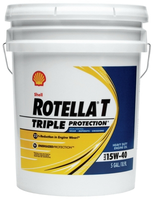 Rotella Motor Oil, 15W40 CJ4, 5-Gals.
