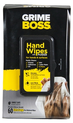 Hand Cleaning Wipes, 60-Ct.