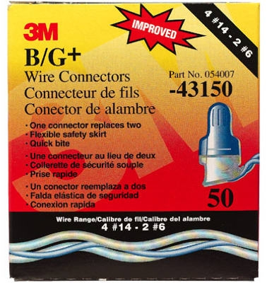 Scotchlok B/G+ Wire Connector, 8-14 AWG, 50-Pk.