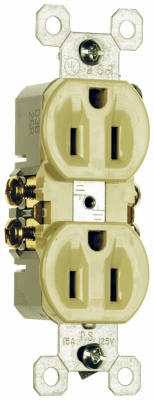 15A125VIvory2 Pole3 Wire GroundingStandard Duplex Outlet