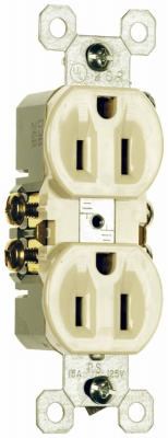 15A125VIvory2 Pole3 Wire GroundingStandard Duplex Outlet,
