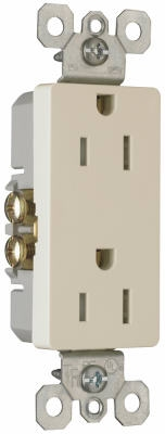 10-Pack Light Almond 15-Amp 125-Volt Grounded Duplex Outlet