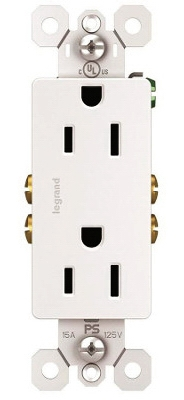 10-Pack White 15-Amp 125-Volt Decorator Outlet