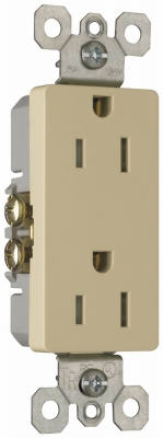 10-Pack Ivory 15-Amp 125-Volt Decorator Outlet