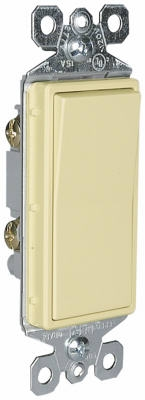 10-Pack Ivory 15-Amp 120/277-Volt Grounded 1-Pole Decorator Switch