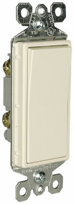 Decorator Single Pole Light Switch, Light Almond, 10-Pk.