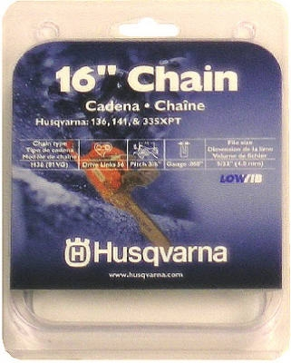 Chainsaw Chain, 91VG, Low-Profile, 16-In.