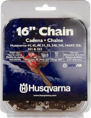 Chainsaw Chain, 95VP, Narrow Kerf, 16-In.