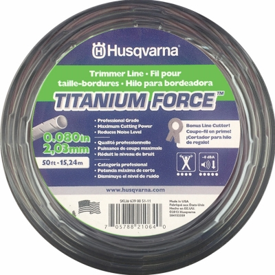 Titanium Force Trimmer Line, .105-In. x 50-Ft. Spool