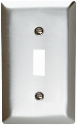 Wall Plate, Single Toggle, Stainless Steel