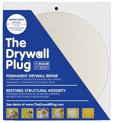 Drywall Repair Plug, 1/2 x 6-7/8-In.