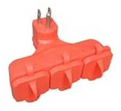 3-Outlet Adapter, Orange