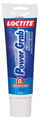 Power Grab Express Interior Construction Adhesive, 6-oz. Tube