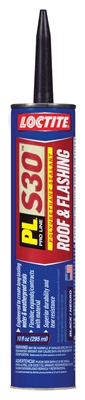 PL S30 Roof & Flashing Polyurethane Sealant, Black, 10-oz. Cartridge