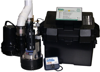 Battery-Backup Sump Pump System, .5-HP Motor