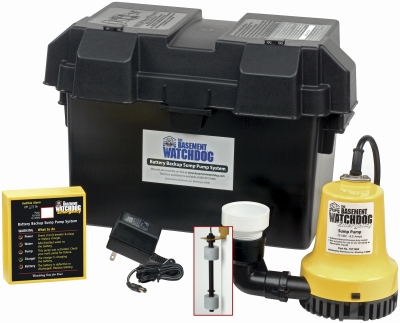 Emergency Battery-Backup Sump Pump