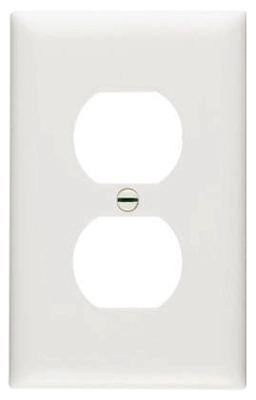 Urea Wall Plate, Duplex Outlet, White