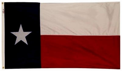 Texas State Flag, Nylon, 3 x 5-Ft.
