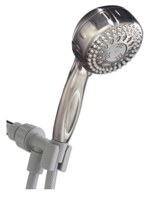 Showerhead, Handheld, 5 Settings, Brushed Nickel