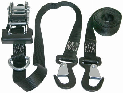 Ratchet Tie Down, 1.25-In. x 8-Ft., 2-Pk.