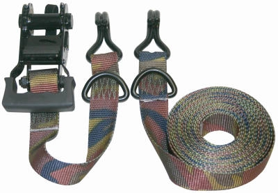 Camo Ratchet Tie Down, 1.25-In. x 16-Ft., 2-Pk.