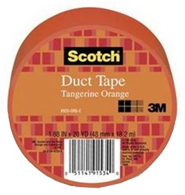 Duct Tape, Orange, 1.88-In. x 20-Yds.