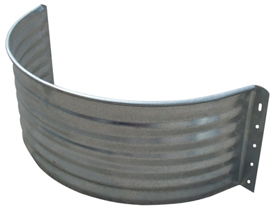 Round Window Well Area Wall, 22-Ga. Galvanized Steel, 12-In.