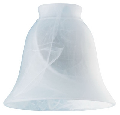 Milky White Glass Ceiling Fan Light Shades, Must Purchase in Quantities of 6