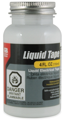 Liquid Electrical Tape, Waterproof, White, 4-oz.