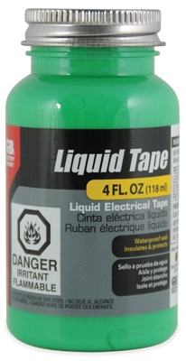 Liquid Electrical Tape, Waterproof, Green, 4-oz.