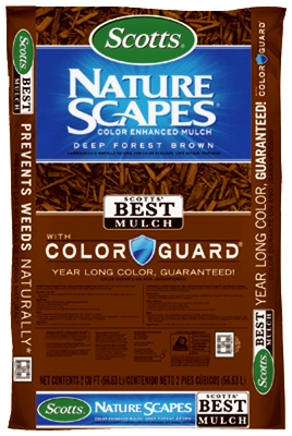 Nature Scapes Color-Enhanced Mulch, Forest Brown, 2-Cu. Ft.