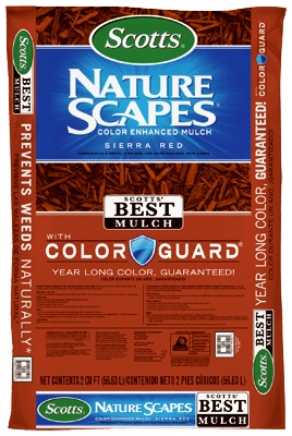 Nature Scapes Color-Enhanced Mulch, Sierra Red, 2-Cu. Ft.